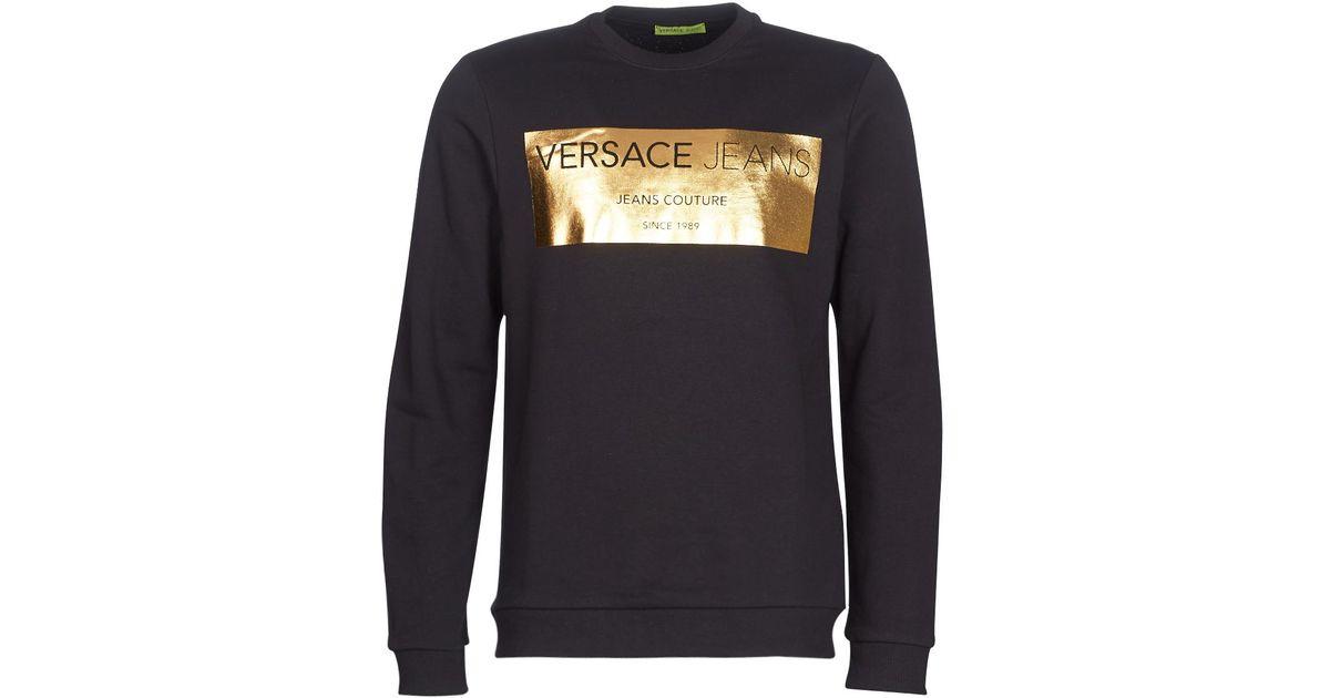 69d3297ddce Lyst - CANATO hommes Sweat-shirt en Noir Versace Jeans pour homme en  coloris Noir