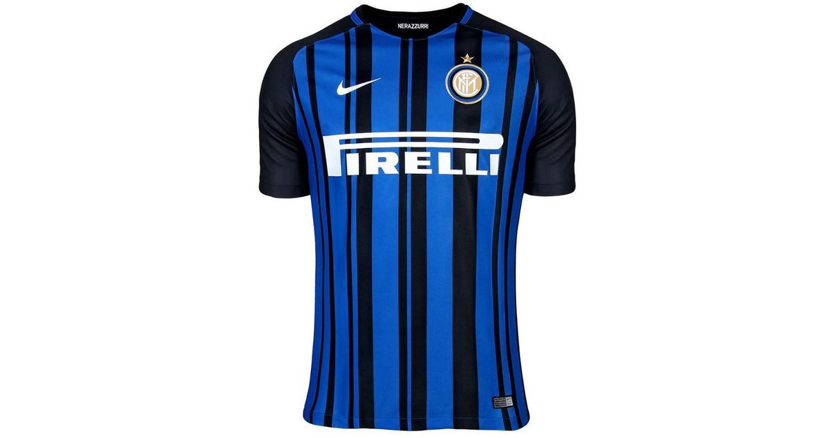 wholesale dealer d7ecc bd660 Nike - 2017-2018 Inter Milan Home Football Shirt (kids) Women's T Shirt In  Black - Lyst