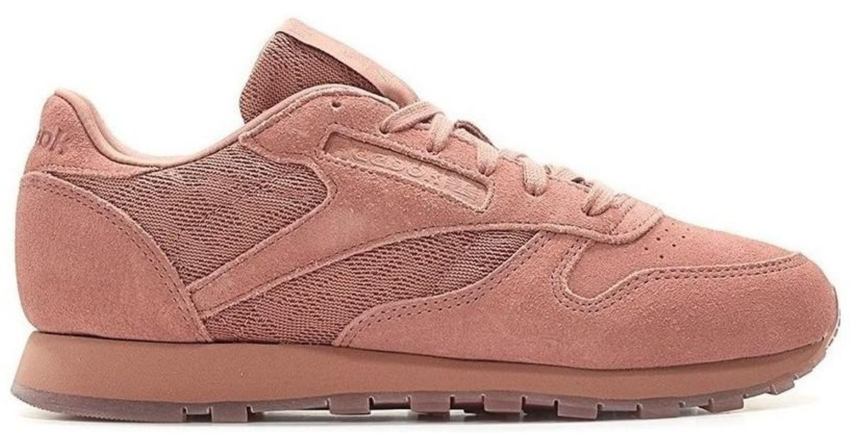 5bdf673343d Reebok Classic Leather Lace Sandy Rose Women's In Pink in Pink - Lyst
