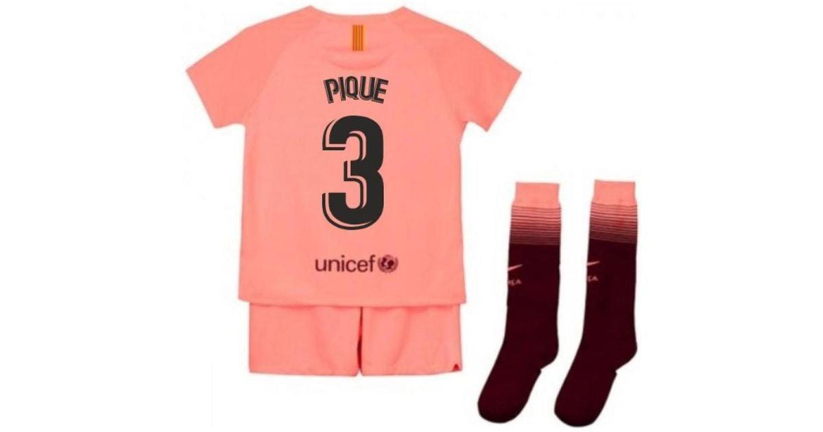 Nike 2018 2019 Barcelona Third Little Boys Mini Kit Pique 3