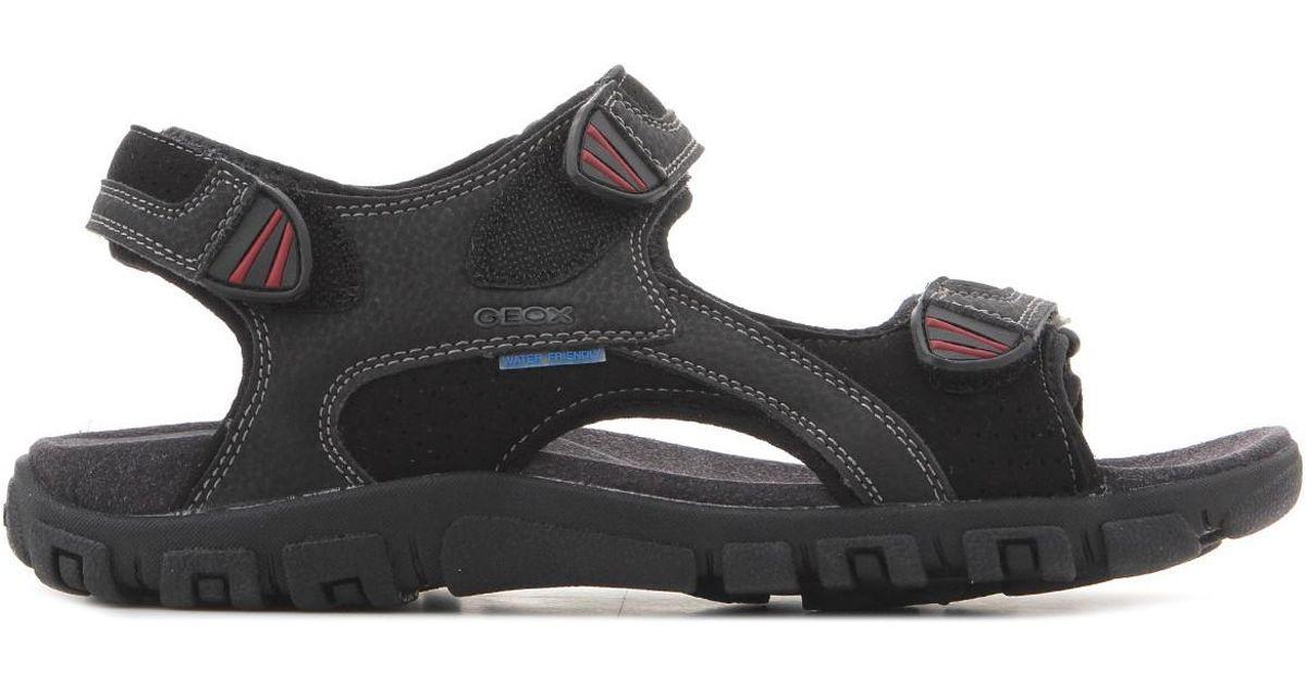 Geox U S. Strada Wf C U6224c 0au50 C9999 Men's Sandals In Black for Men Lyst