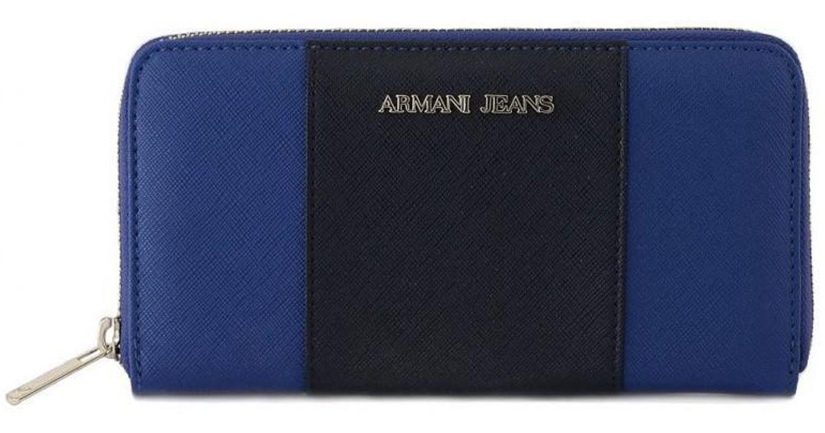 624c77d77 Armani Jeans Giorgio Armani P.foglio Blue Women's Purse Wallet In  Multicolour in Blue - Lyst