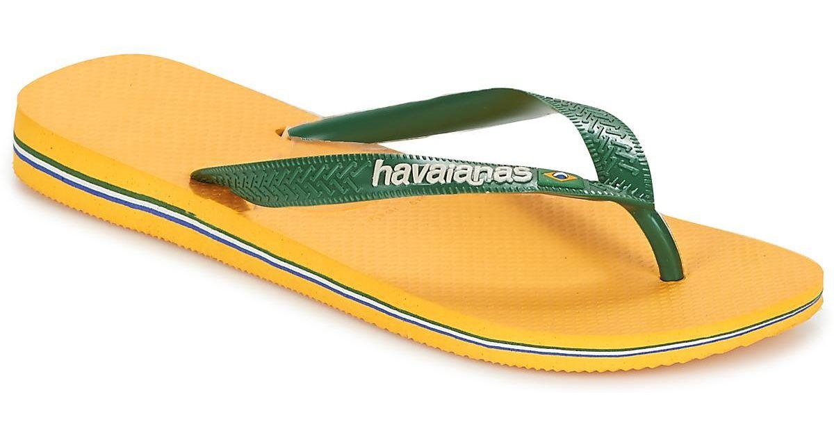 d5da53f1c7c0d Havaianas Brazil Logo Women s Flip Flops   Sandals (shoes) In Green in Green  - Lyst