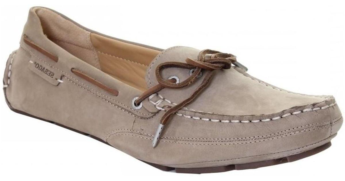 a1742bd8b5ea8 Sebago Kedge Tie Ladies Moccasin Women's Boat Shoes In Beige in Natural -  Lyst