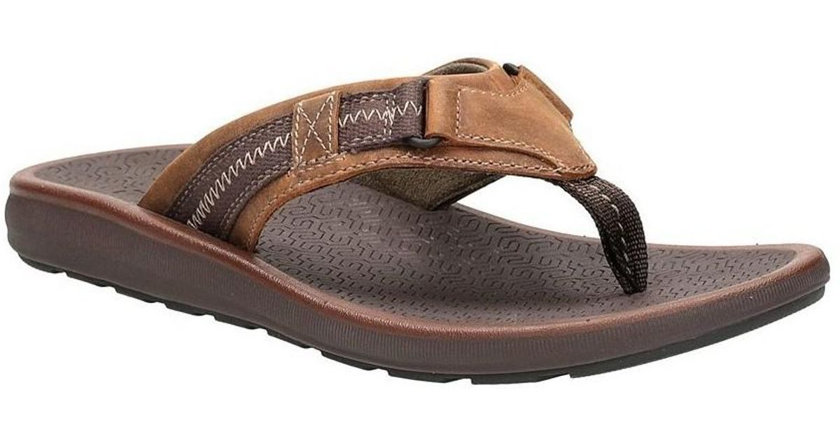 688fa0f1ba223 Clarks Kernick Beach Men's Flip Flops / Sandals (shoes) In Brown in Brown  for Men - Lyst
