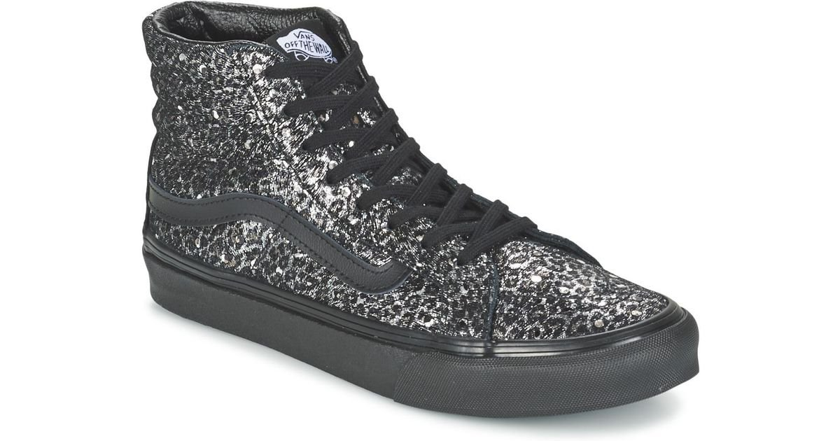 0a4716b6cb Vans Sk8-hi Slim Women s Shoes (high-top Trainers) In Black in Black - Lyst