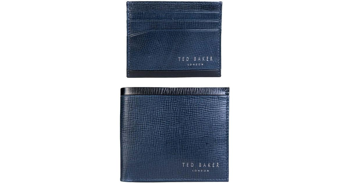 07c7a926a3903b Ted Baker Wallet And Card Holder Gift Set Da7m Gg62 Crossy Men s Purse  Wallet In Blue in Blue for Men - Lyst
