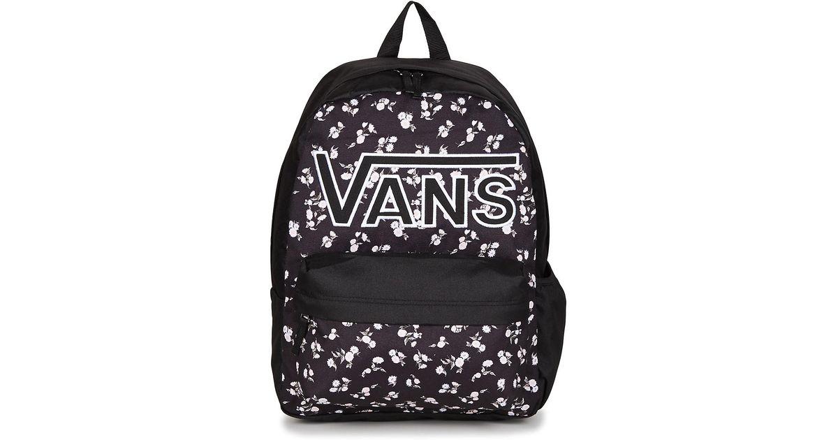 8043de2d9b Vans Realm Flying V Backpack Women s Backpack In Black in Black for Men -  Lyst