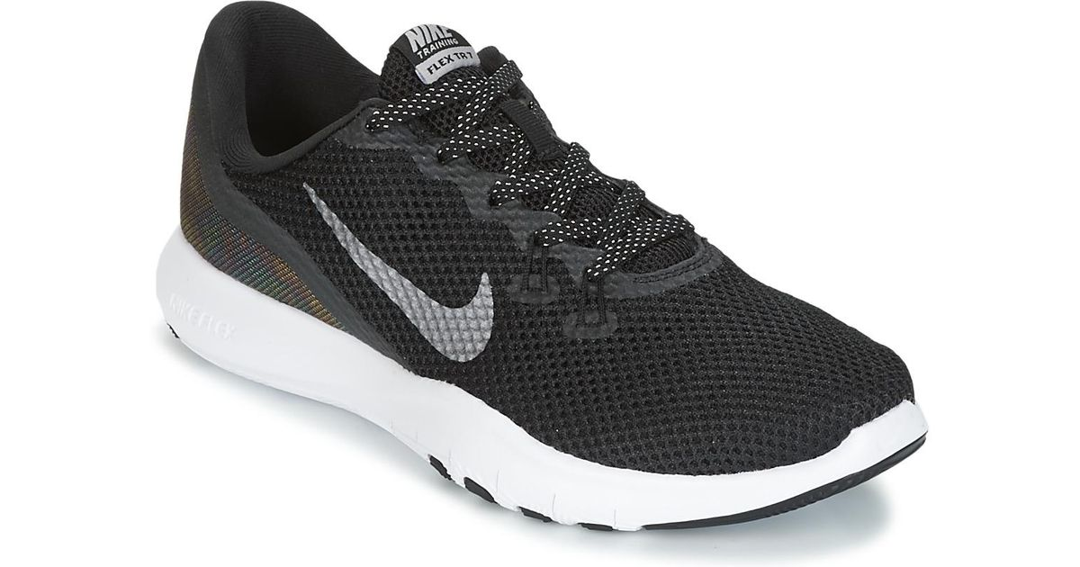 36b4e18d5fa0 Nike Flex Trainer 7 Metallic W Women s Trainers In Black in Black - Lyst