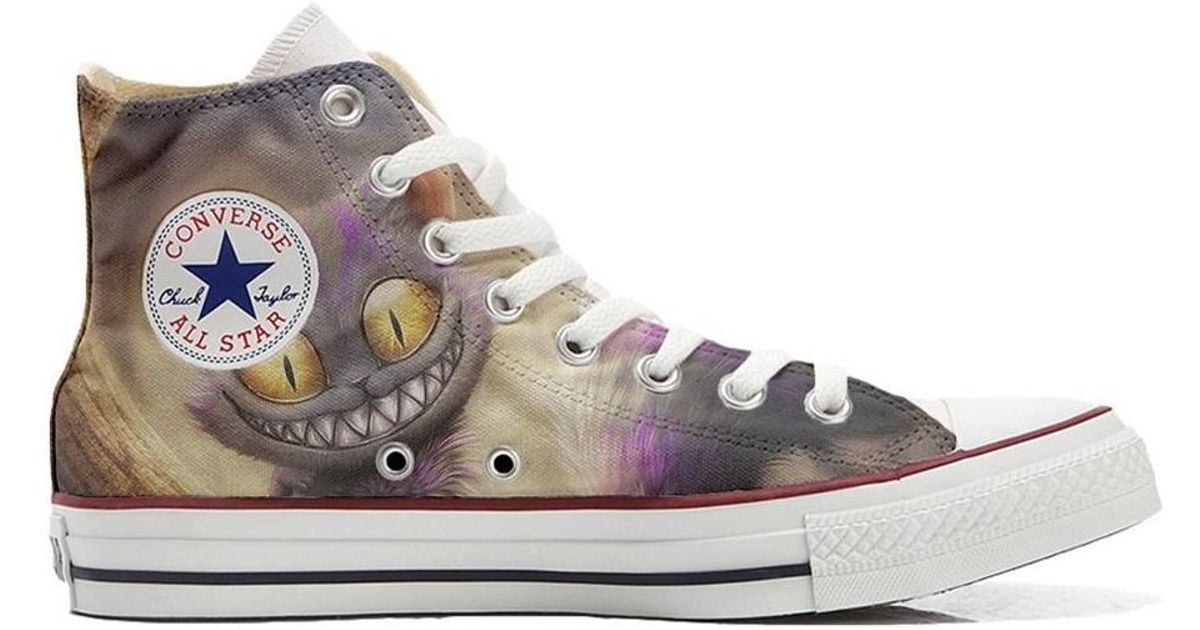 65973549f870 Converse Original Customized With Printed Italian Style Handmade Shoes Ca  Women s Shoes (high-top Trainers) In Beige in Natural - Lyst