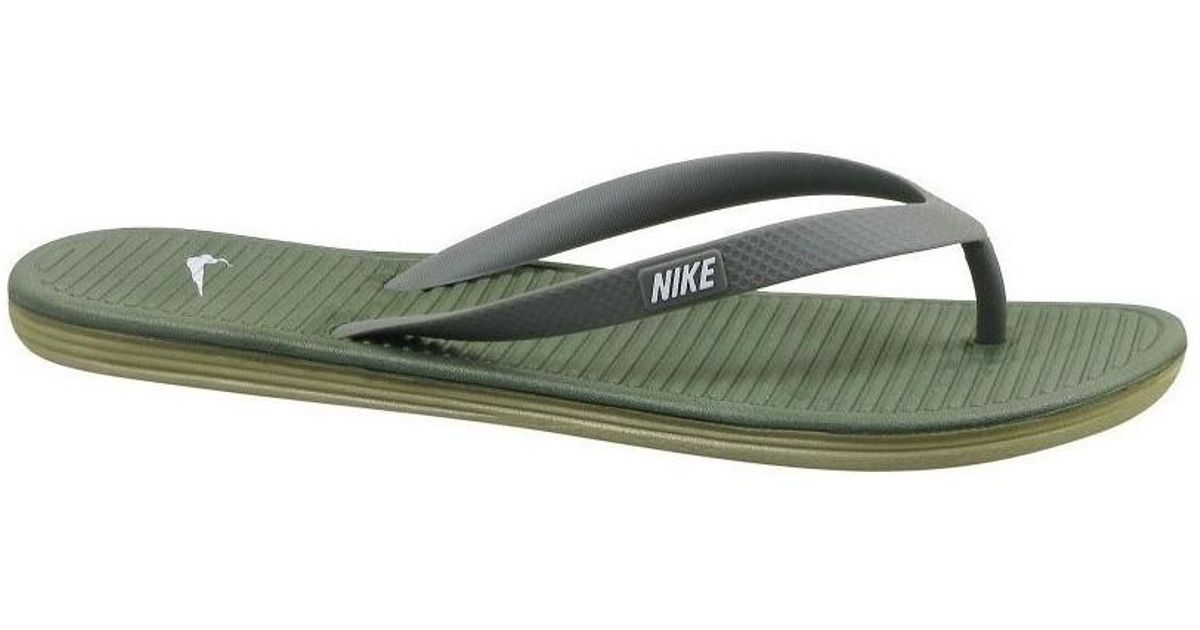 063423bf9086c Nike Solarsoft Thong Ii Men s Flip Flops   Sandals (shoes) In Multicolour  in Green for Men - Lyst