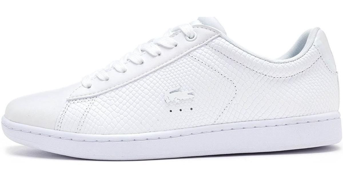 bb5cbd721e86 Lacoste carnaby evo leather trainers in triple white men shoes trainers in  white in white for