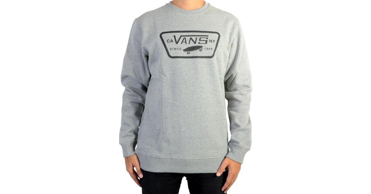 Lyst - Vans Sweatshirthirt Full Patch Crew Va36l302f Concrete Heather Men's  Sweater In Grey in Gray for Men