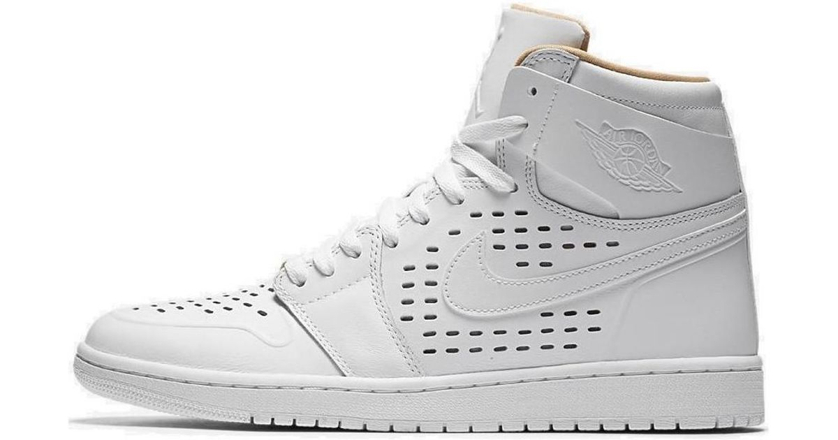 competitive price 29c6f 5974d Nike Air Jordan 1 Retro High Men s Shoes (high-top Trainers) In White in  White for Men - Lyst