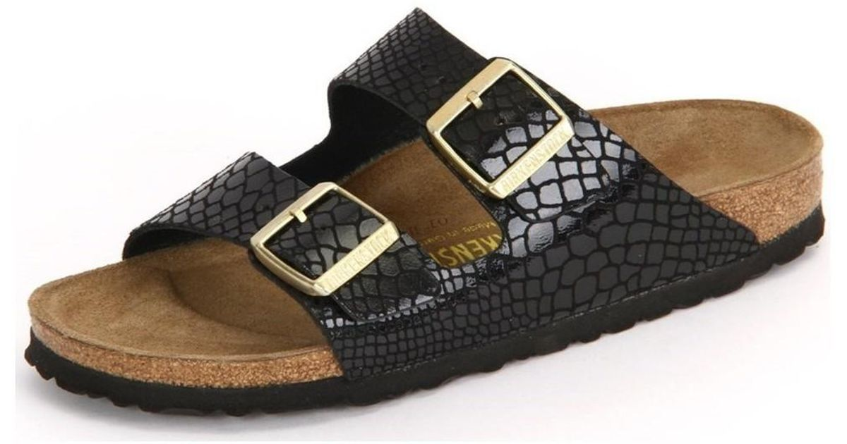 cc4f4a087d1 Birkenstock Arizona Black Shiny Snake Birkoflor Women s Mules   Casual  Shoes In Multicolour in Black - Lyst