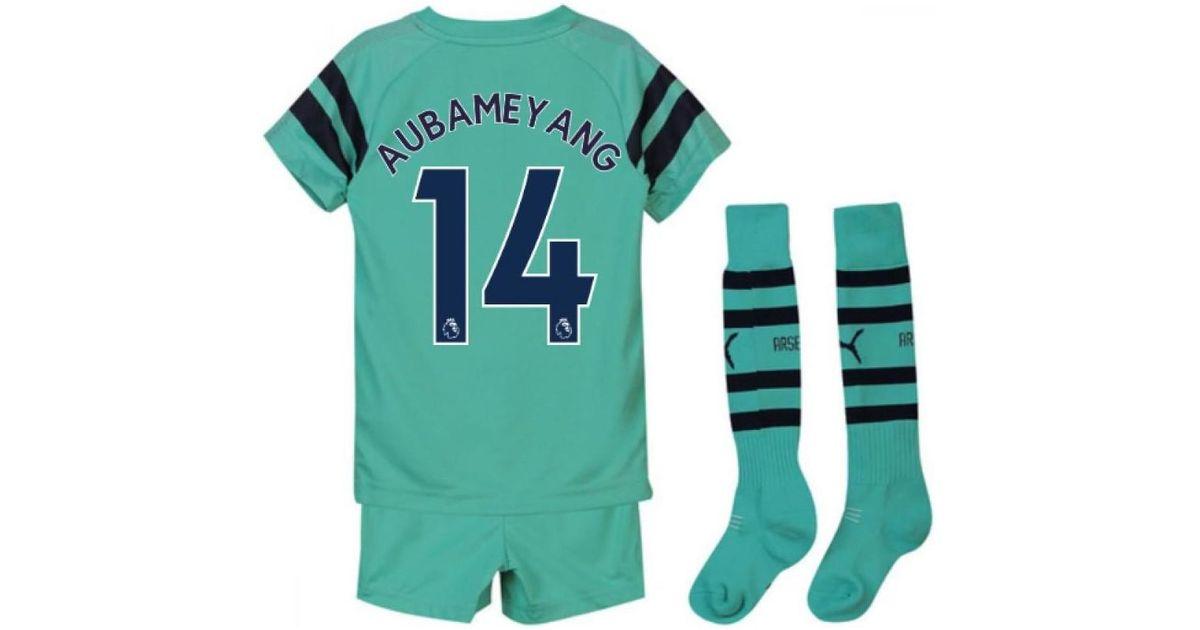 online store e8a2e 286bf PUMA - 2018-2019 Arsenal Third Little Boys Mini Kit (aubameyang 14) Men's  In Blue for Men - Lyst
