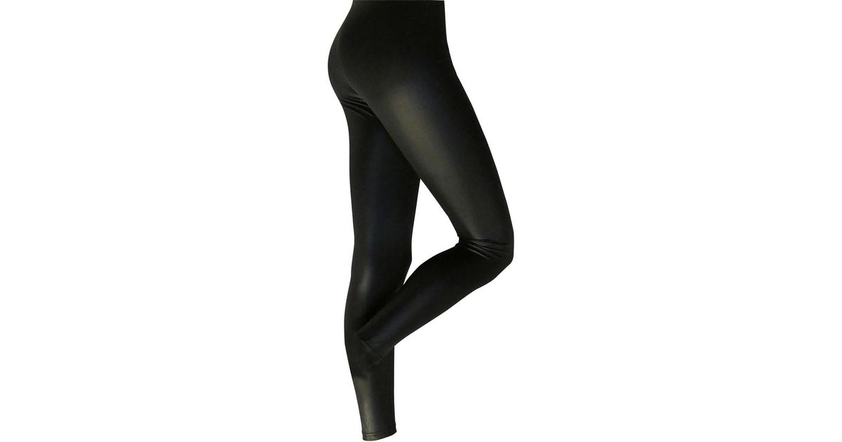 641e3f013 Silky Womens ladies Leather Look Fashion Leggings (1 Pair) Women s Tights  In Black in Black - Lyst
