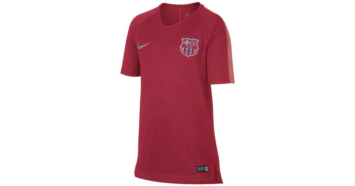 f161f8155 Nike 2018-2019 Barcelona Training Shirt (tropical) - Kids Women s T Shirt  In Pink in Pink - Lyst