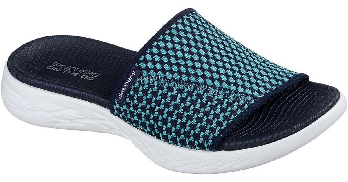 21f5fafd2ade Skechers On The Go 600 Nitto Ladies Summer Navy blue Trainers in Blue - Lyst