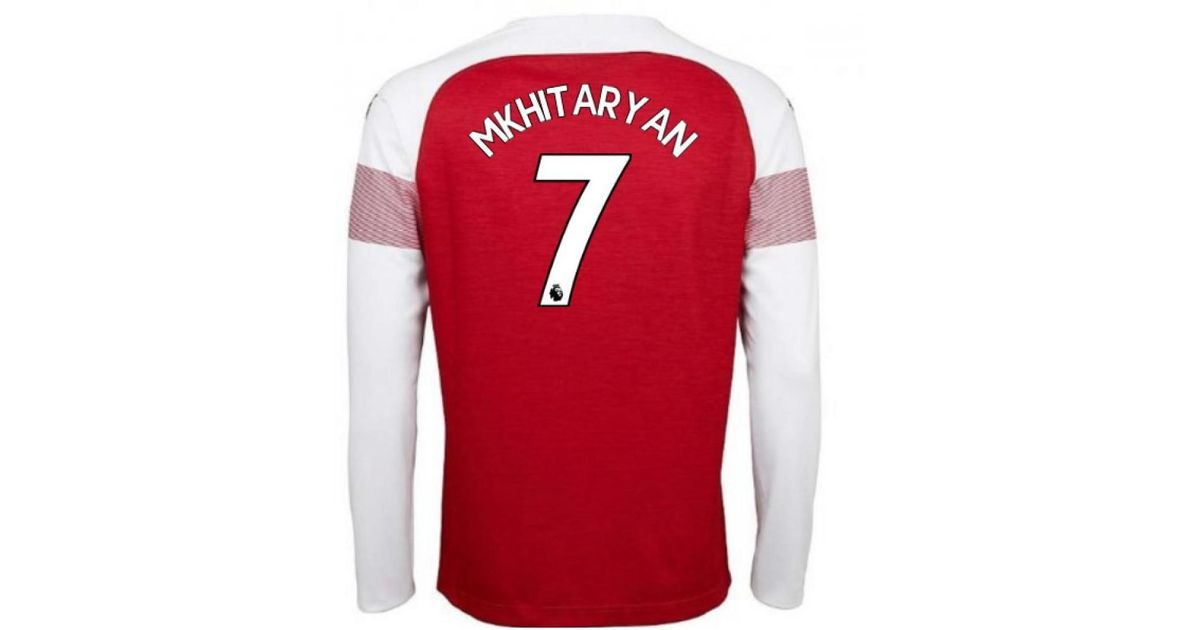cbab751ba15 PUMA 2018-2019 Arsenal Home Long Sleeve Shirt (mkhitaryan 7) Women s In Red  in Red for Men - Lyst