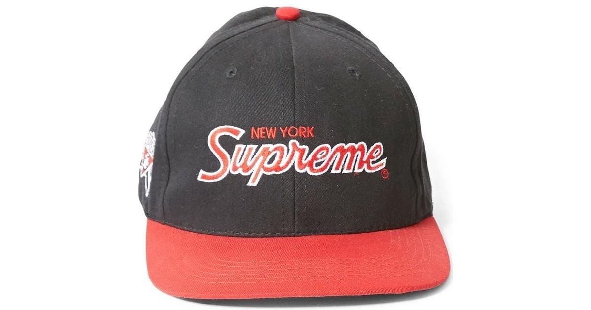 Supreme 2004 New York Snapback Cap Black Red Men s Cap In Black in Black  for Men - Lyst 01baace3a6e