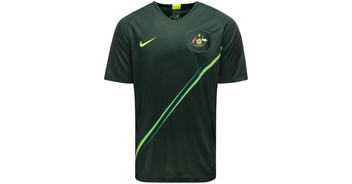 b349c1d3b8b Nike 2018-2019 Australia Away Football Shirt Men's T Shirt In Green in  Green for Men - Lyst