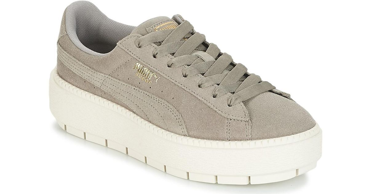 cdef94c357e353 PUMA Suede Platform Trace W s Women s Shoes (trainers) In Grey in Gray -  Lyst