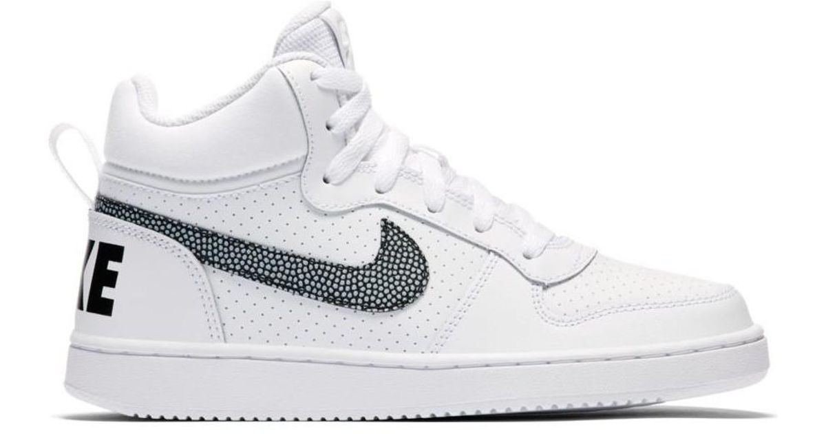 half off 816a9 4a316 Nike Boys  Court Borough Mid (gs) Shoe 839977 105 Women s Shoes (high-top  Trainers) In White in White - Lyst