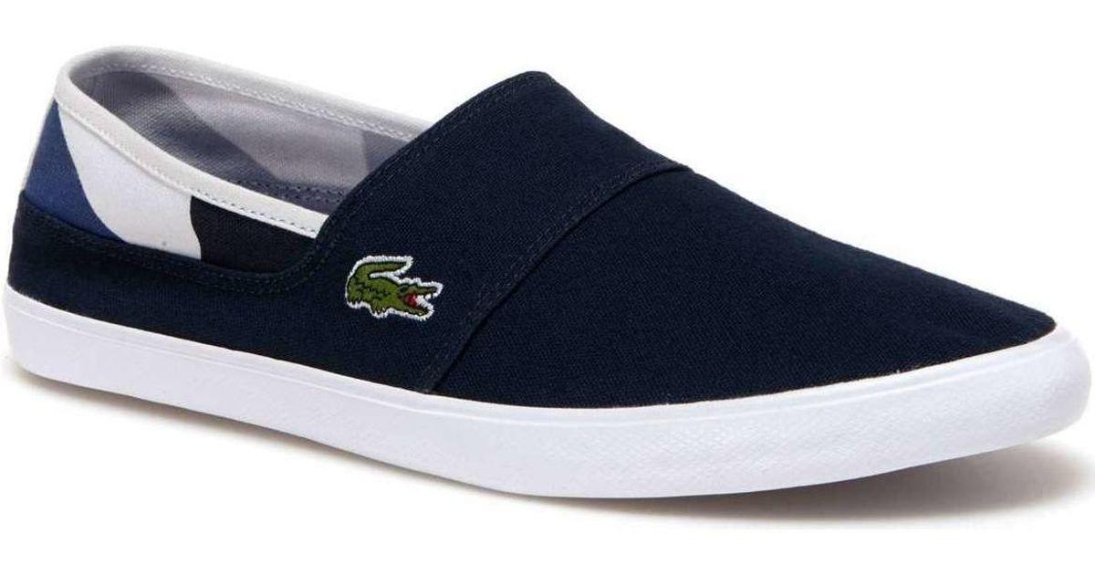 e94d17a09 Lacoste 733cam1068 Slip-on Man Blue Men s Slip-ons (shoes) In Blue in Blue  for Men - Lyst