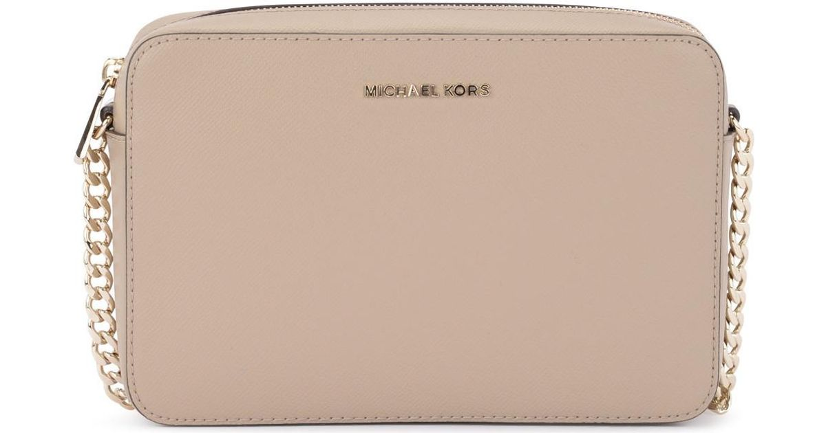 729ea790d8 MICHAEL Michael Kors Jet Set Travel Truffle Saffiano Leather Shoulder Bag  Women's Shoulder Bag In Beige in Natural for Men - Save 10% - Lyst