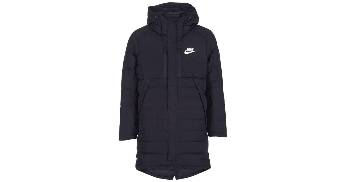 43f623af7d Nike Down Fill Parka Men s Jacket In Black in Black for Men - Lyst