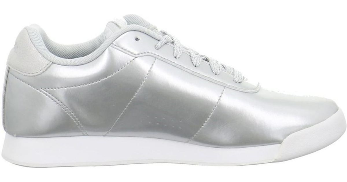 98c3ab8157668e Reebok Royal Charm Women s Shoes (trainers) In Silver in Metallic - Lyst