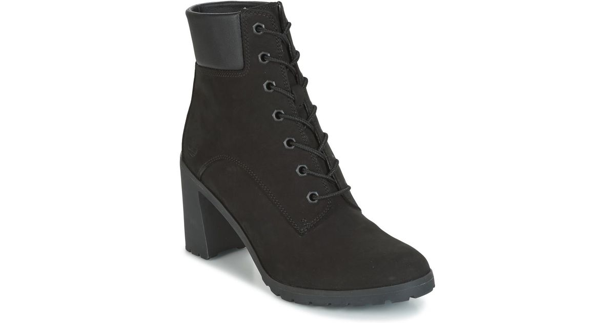 19e026433f5 Timberland Allington 6in Lace Up Women's Low Ankle Boots In Black in Black  - Lyst