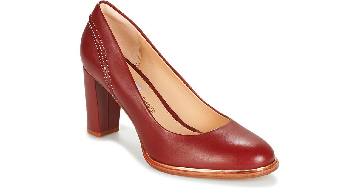6c64ec238d6 Clarks Ellis Edith Women s Court Shoes In Red in Red - Lyst