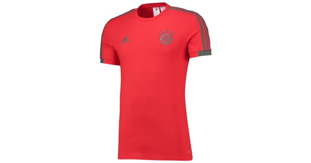 dca16cf0a1d Adidas 2018-2019 Bayern Munich Training Tee Men's T Shirt In Red in Red for  Men - Lyst
