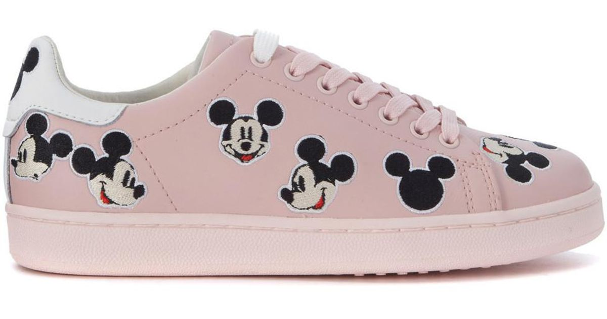 ca75d452693e MOA Sneaker Moa Mickey Mouse In Pink Leather Women s Trainers In Pink in  Pink - Lyst