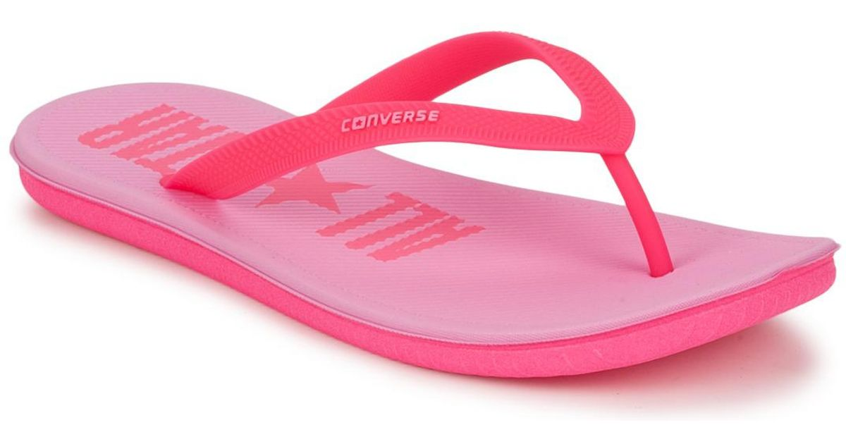 89b791e07d8e Converse Sandstar Thong Mules   Casual Shoes in Pink - Lyst