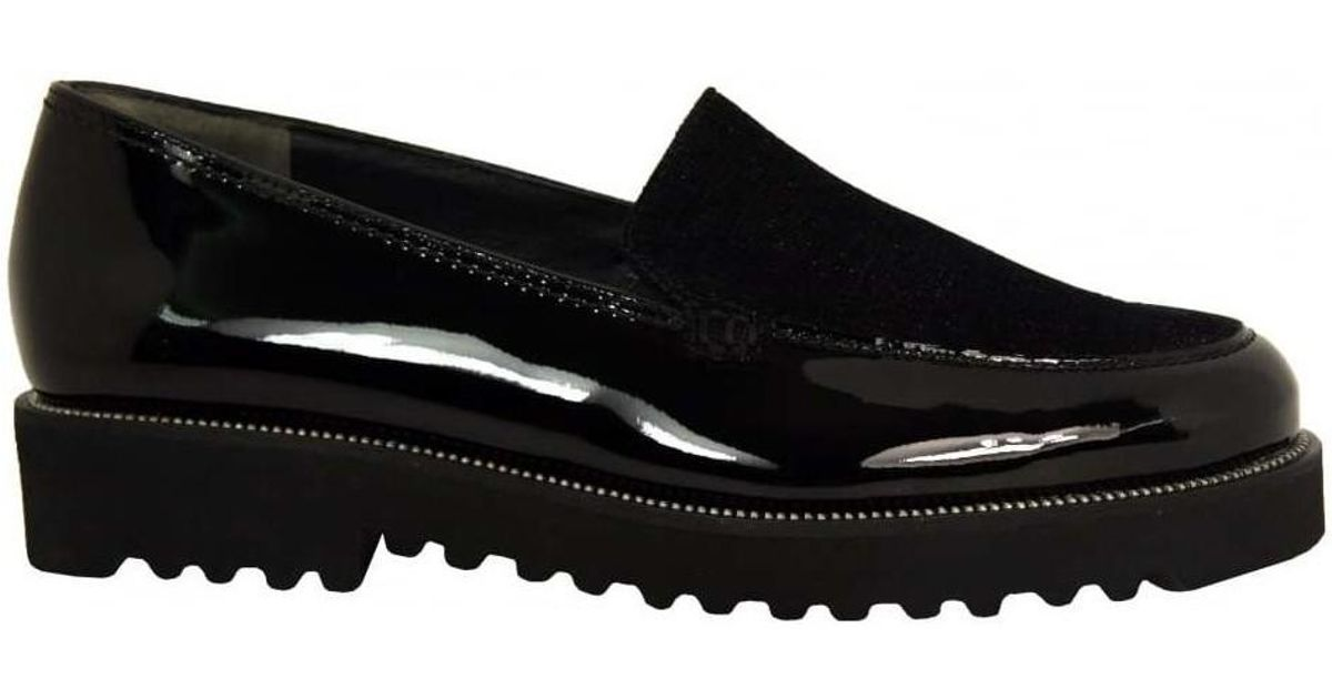 Paul Green 1612 Chunky Loafer Women s Loafers   Casual Shoes In Black in  Black - Lyst
