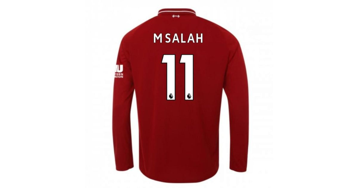 53046193a New Balance 2018-2019 Liverpool Home Long Sleeve Shirt (m Salah 11) - Kids  Men's In Red in Red for Men - Lyst