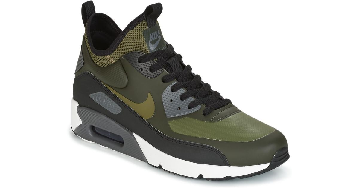 innovative design f18de d1f31 czech nike air max 90 ultra mid winter mens shoes high top trainers in  green in