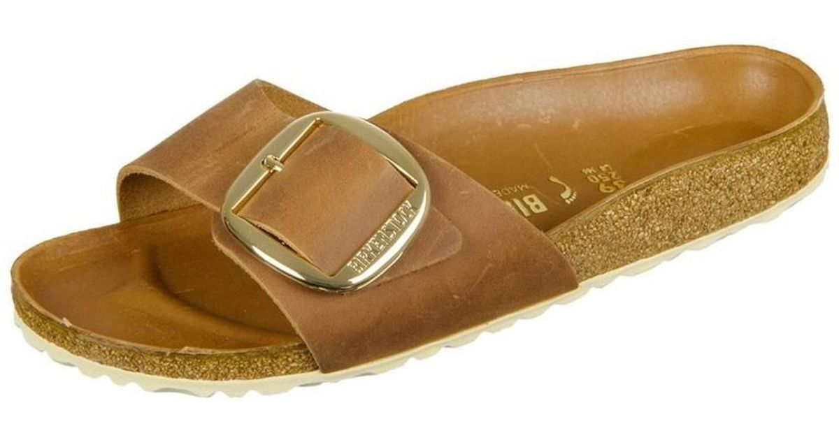 850f2896e21 Birkenstock Madrid Big Buckle Cognac Natural Leather Women s Mules   Casual  Shoes In Multicolour - Lyst