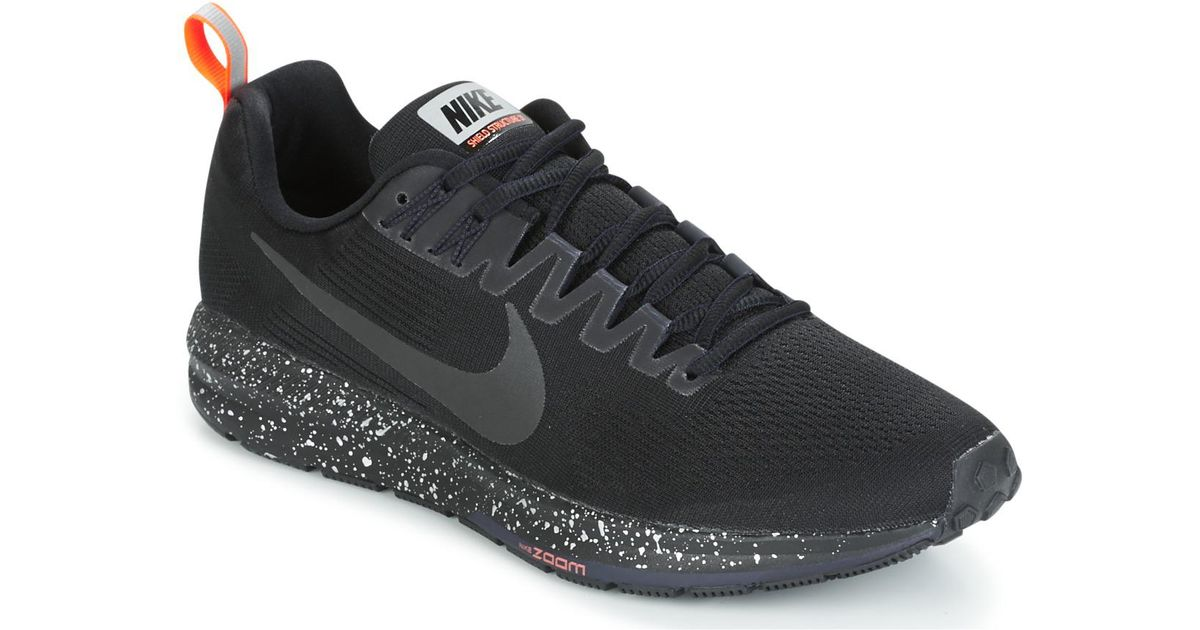 b2e9e9af05e3d Nike Air Zoom Structure 21 Shield Men s Running Trainers In Black in Black  for Men - Lyst