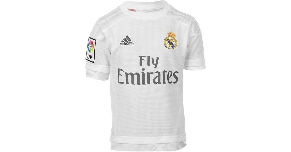 a92c40b3832 adidas 2015-16 Real Madrid Home Shirt (raul 7) - Kids Women s T Shirt In  White in White - Lyst