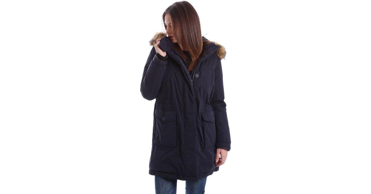 68b1b81c50 Geox W6425s T2266 Down Jacket Women Blue Women's Coat In Blue in Blue - Lyst