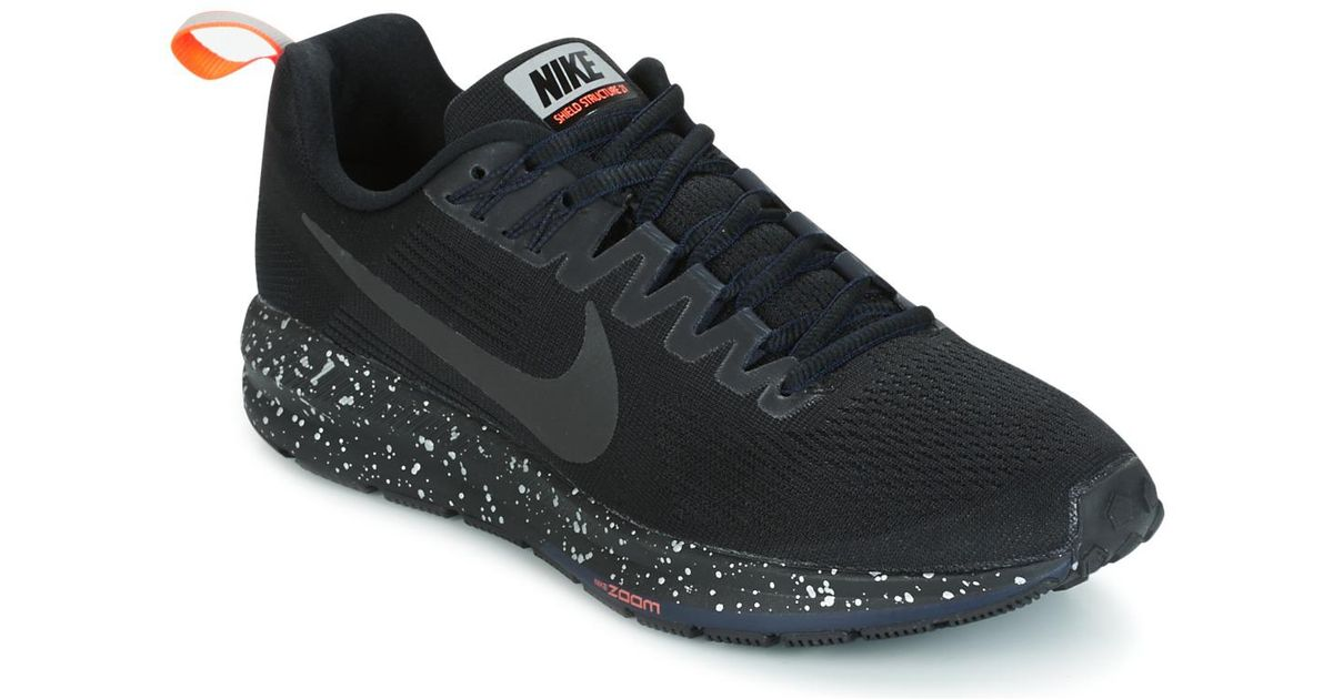 100% authentic dbc43 00e25 Nike Air Zoom Structure 21 Shield Women s Running Trainers In Black in  Black - Lyst