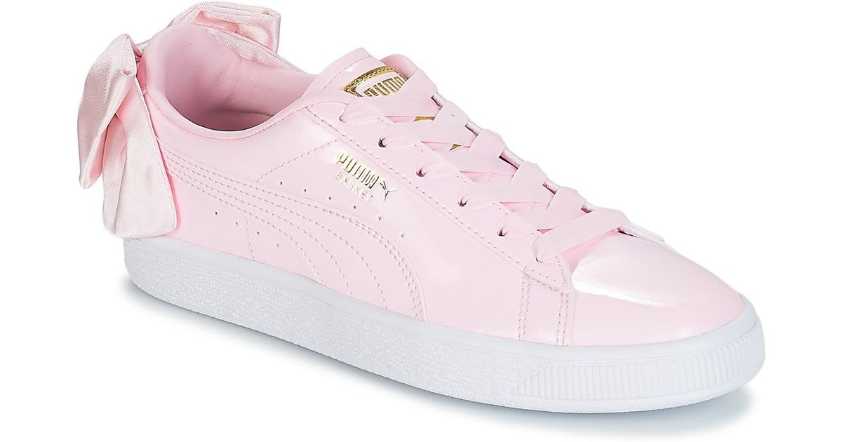 8b2de1fae79404 PUMA Wn Suede Bow Patent.cradle Women s Shoes (trainers) In Pink in Pink -  Save 6% - Lyst