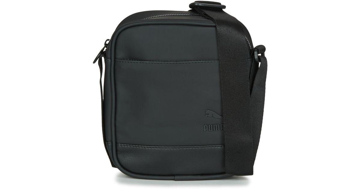 722ce80cb358 Puma Originals Portable Men s Pouch In Black in Black for Men - Lyst