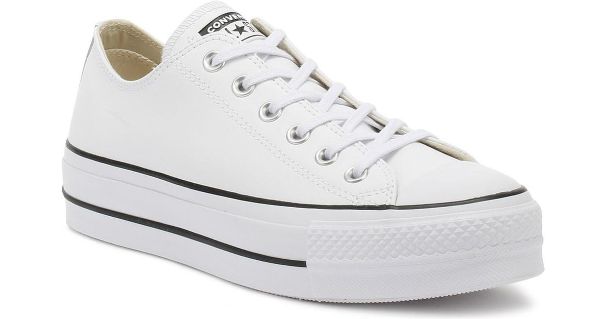 752768a51bc699 Converse Chuck Taylor All Star Lift Womens White Ox Trainers in White -  Save 14% - Lyst