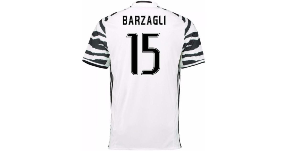 best service fc3bb 22bf8 Adidas - 2016-17 Juventus 3rd Shirt (barzagli 15) Men's T Shirt In White  for Men - Lyst