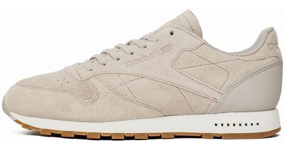 502b6e12c6ecce Reebok Classic Leather Sg Sand Stone Men s Shoes (trainers) In Beige in  Natural for Men - Lyst
